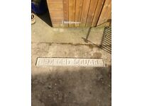 Original bedford Square sign