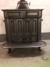 Cast iron antique wood burner