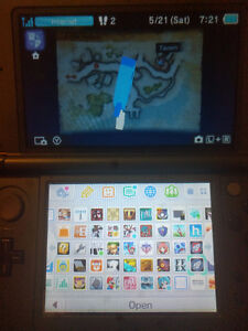 New 3DS with custom firmware and 25+ games (including Echoes)