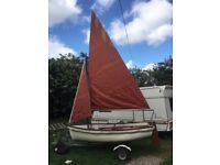 Sailing dinghy price now reduced from £675.00 to £550.00