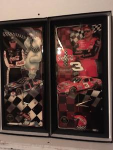Dale Earnhardt Jr & Sr Jebco matching numbered clocks