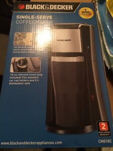 Black and decker single serve coffee maker London Ontario image 1