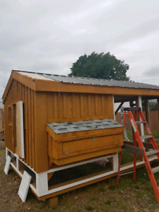 Solid wood chicken coops