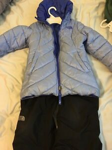 Girls size 6 North Face winter jacket and snow pants
