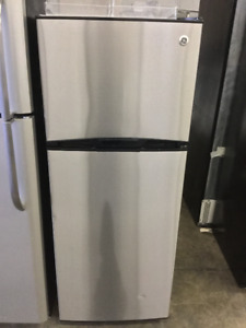 "24"" Apartment Size GE Stainless Steel Fridge"