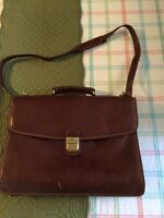 Italian leather messenger/ briefcase bag