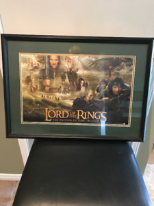 27 x19 Framed Lord of the Rings poster.