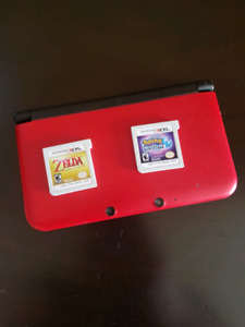Red Nintendo 3DS w/games
