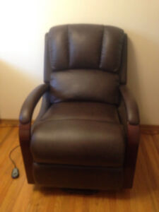 leather recliner and lift chair