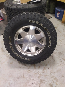 275/70 17 Goodyear Duratracs on Escalade wheels