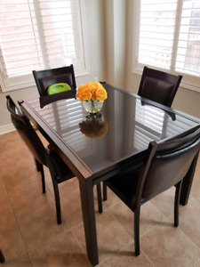 Tempered glass dining set 4 to 10 seater!
