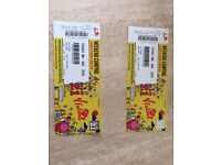 2 tickets V festival Weston park with camping