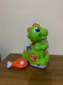 Clementoni Baby T-Rex (italian talking) + Spiral ramp and cars.