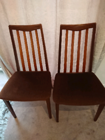 Pair of G PLAN original dining chairs in Immaculate condition
