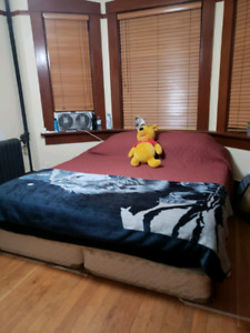 King size bed and box spring