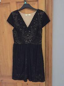 Black lace oasis dress