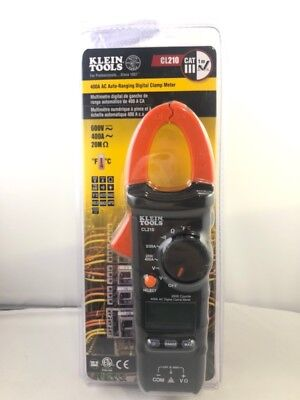 Klein Tools Cl210 Ac Auto-ranging 400 Amp Digital Clamp Meter New Fr Fkt002318