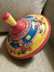 Vintage Tin Litho Toy Top (West Germany)