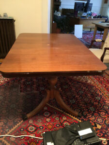 Free Double Pedestal Table