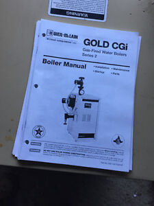Weil McClain water boiler gold (price to move)
