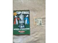 FA cup final ticket and programme