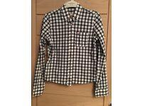 Hollister Blue & white check shirt XS