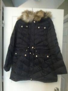 Laundry by Shelli Segal Faux Fur Hooded Coat XL