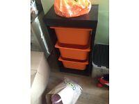 Ikea trofast storage unit black