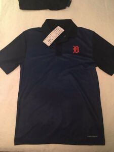 Detroit Tigers Majestic MLB Mens Performance Polo - SMALL