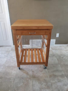 Bamboo Microwave Stand