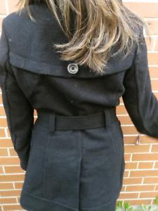 Women's black wool jacket