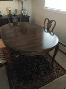 Gibbard dining table,four chairs and buffet
