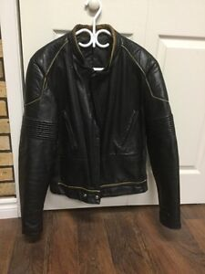 Leather motorcycle jacket men's 40