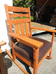 another group of arts and craft rockers / chairs restored
