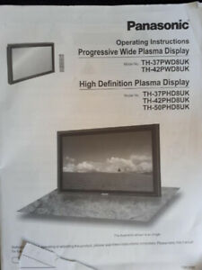 Panasonic High Definition TV Plasma Display 42""