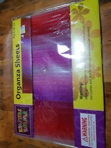 Craft Destash organza sheets