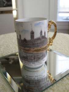 GORGEOUS OLD VINTAGE MINI-SIZED AUSTRIAN CHINA CUP [STAMPED]