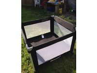 Extra large travel cot suitable for twins