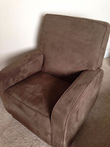 Glider/Recliner - Microfiber - Choc. Brown - Excellent Cond.