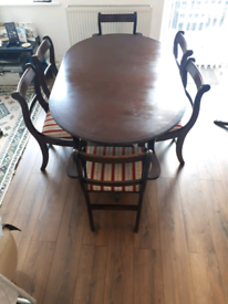 Open to offers Vintage Extendable dining table 6 chairs
