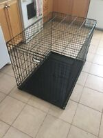 Extra Large Wire Dog Crate Kennel with Divider 42x28x30