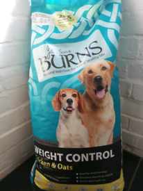 Burns dry dog food