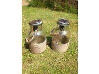 Solar light jars large