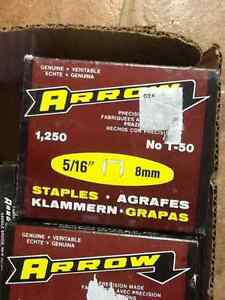 Arrow 8mm T50 Staples - 1250 Pack (2$ a box or 26 boxes for 40$)
