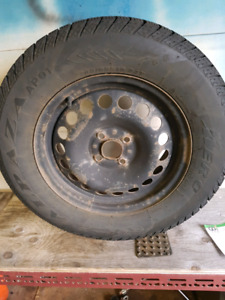 4 Winter tires and rims for sale.