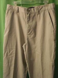 Chaps Ralph Lauren Khaki Pants Mens Size W32 L32 Beige 100