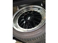 Bbs reps 18 inch alloys including tyres 5x120