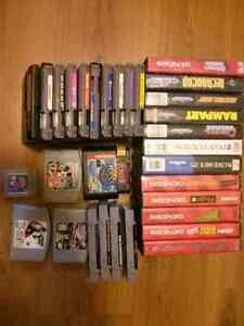 Various retro games lots Sega Genesis RPG NES SNES N64 Game Boy