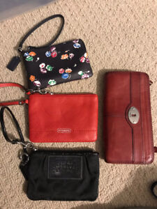 Coach Wristlets and Fossil wallet