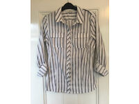 Next fitted stripe shirt size 12